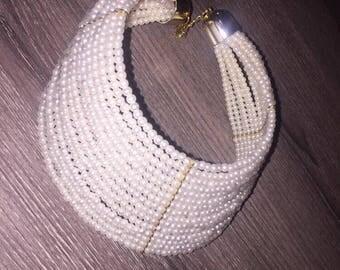 Pearl High Fashion Choker Necklace