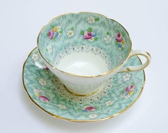 Vintage Paragon Fine Bone China Tea Cup and Saucer - Made in England