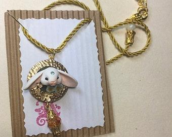 Bunny Necklace Blue 1