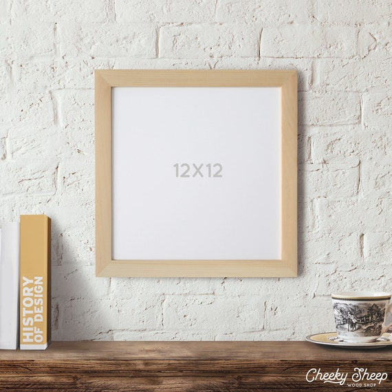 12x12 Picture Frame Unfinished Wood Frame Square Frame