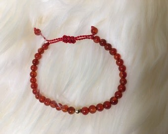 Dainty Carnelian Bracelet