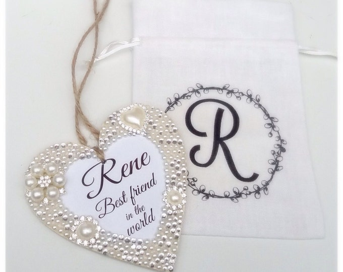Personalised heart plaque | hanging heart sign with any quote/wording | Friend gift | wedding gift | Anniversary | Mother's Day | Christmas