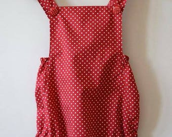 Romper in a Red Polka Dot Made to Order