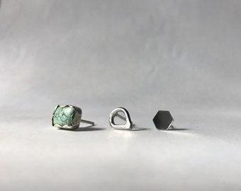 Turquoise Earring Trio
