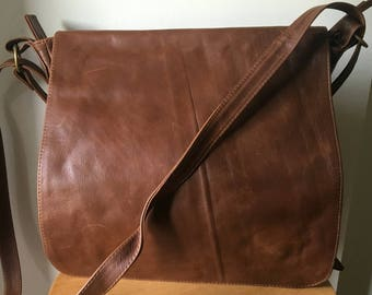 Convertible backpack rucksack bag. Shoulder tote made from lambskin. Handmade soft, perfect for a laptop or travel bag. Leather backpack