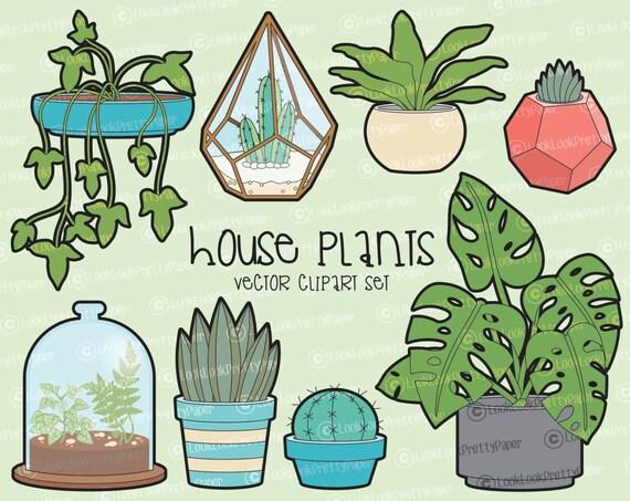 Premium Vector Clipart House Plants Clipart Kawaii Plants