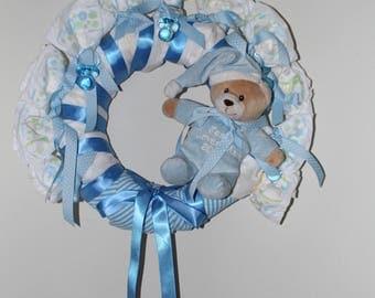 Diaper wreath (boy)