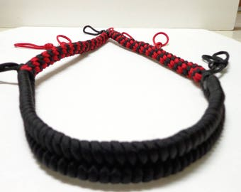 Custom Paracord Goose/Duck Call Lanyard Black and Red