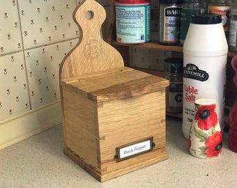 Oak Salt Box