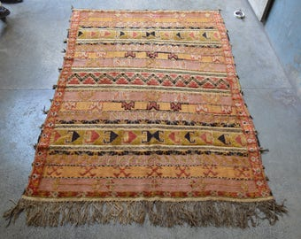 FREE SHIPPING Antique Barjasta Mishwani Kilim Carpet Mixed Rug