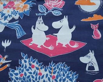 """Moomin fabric. 50 cm x 50 cm./20"""" x20"""""""
