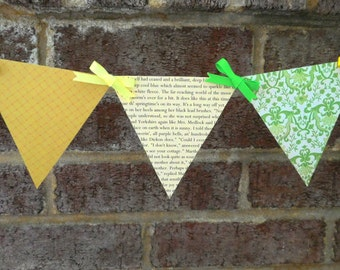 The Secret Garden Paper Pennant Banner / Book Page Decor / Shower Decoration / Birthday / Party / Bunting / Garland