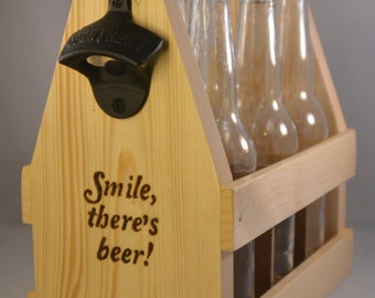 "Beer Caddy - ""Smile - there's Beer"""