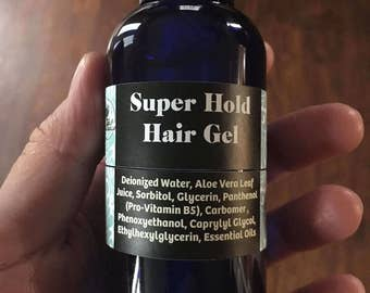 Super hold hair gel