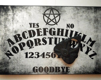 A4 Hand Finished Wooden Pentagram Talking Board Set Complete with All-Seeing Eye Planchette, Classic Ouija Style Board,Faeries