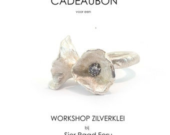 Gift voucher workshop art clay silver, whole day course