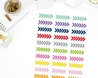 Arrow Stripe Stickers! Perfect for your Erin Condren Life Planner, Filofax, Paper Plum, calendar and/or scrapbook