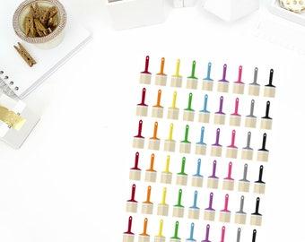 Paint Brush Stickers! Perfect for your Erin Condren Life Planner, Paper Plum, Filofax!