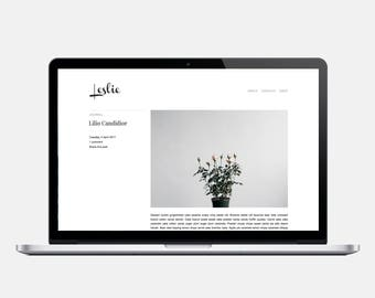 LESLIE - Responsive Blogger Template - Post Info sidebar, Header Image, Sleek, Minimalist