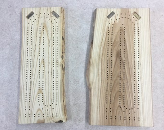 Live Edge Ash Cribbage Board