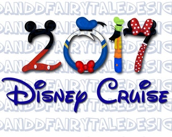 Disney Cruise 2017 Themed Digital Art Letters Printable DIY Iron on - Instant Download