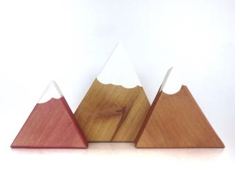 Mountain Blocks, Alder Wood Blocks, Set of 3