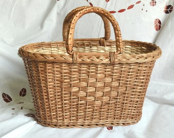 Small Wicker Purse, Wicker Bag, Handwoven Willow Handbag, Small Wicker Bag, Willow Purse, Small Basket Purse, Basket Bag, Basket Tote