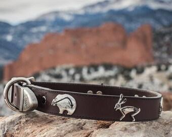 Leather Critter Dog Collar
