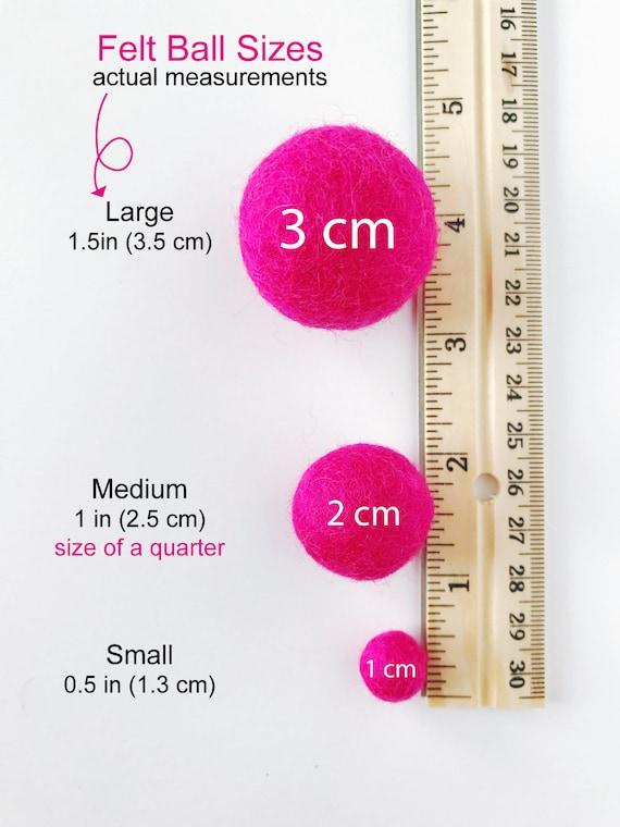 2 Cm Wool Felt Balls Pick Your Own Colors Pom Pom