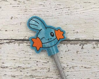 Mud Pencil Toppers - Pokemon Inspired - Party Favor - Valentine - Small Gift - Back to School