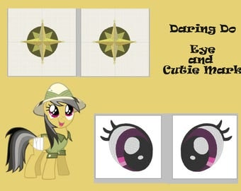 PES files: daring do eye and Cutie mark - embroidery machine design