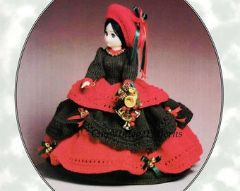 Christmas Belle Doll ... Knitted Doll's Dress ... Vintage PDF Knitting Pattern ... 15 inch Doll ... Instant Download .. Christmas Decoration