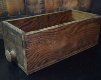 Vintage Wood Storage Drawer