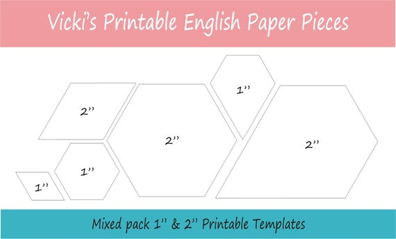 12 printable mixed shapes for english paper piecing epp 12 printable mixed shapes for english paper piecing epp pieces dowloadable download templates patchwork from vickiisaacssews on etsy studio pronofoot35fo Image collections