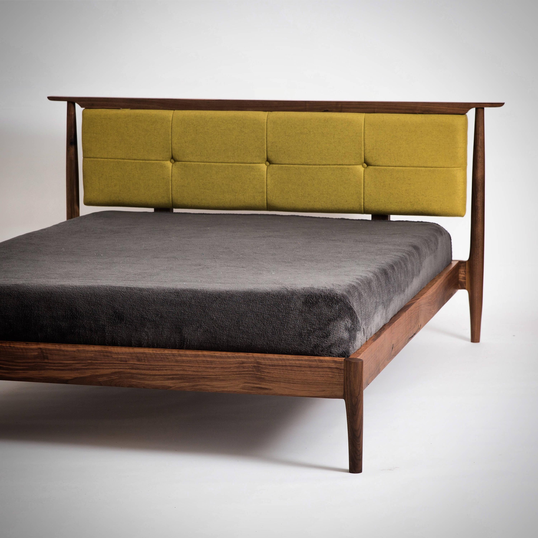 Queen Mid Century Storage Bed