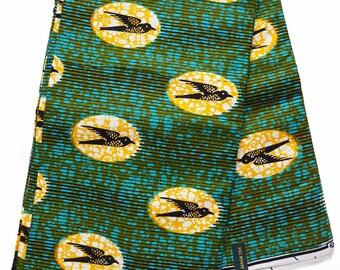 Ankara African print Fabric/ African fabric by the yard/ Wax print fabric/ African fabric/ Ankara fabric/ ethnic fabric/ Swallow bird