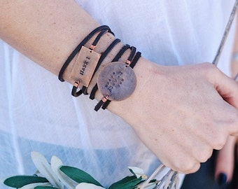 James 1:27 Adoption Leather Wrap Bracelet