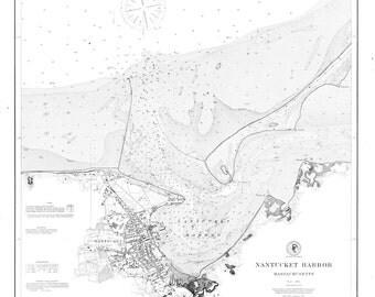 Nantucket Harbor Map 1889