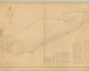 Lake Erie Map 1880