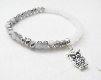 Owl bracelet, owl jewelry, bird bracelet