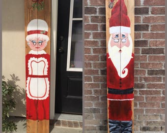 Mr. and Mrs. Clause Set, Christmas Decorations, Front Door Decor, Putdoor Decorations, Holiday Decor, Christmas Decor, Santa Clause, Mrs.