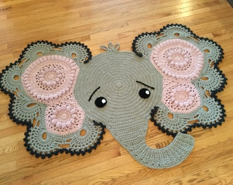 Free Crochet Patterns For Baby Rugs : Elephant rug Etsy