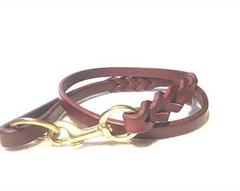 Braided Leather Leash, Leather leash, leather lead,  dog lead,  leather dog lead, leather dog leash