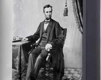Canvas 24x36; Abraham Lincoln O 79 By Gardner, 1863 Bw
