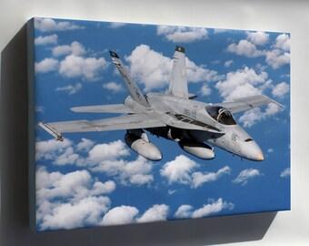 Canvas 24x36; Fa-18 Hornet - Copy