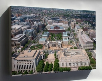 Canvas 24x36; Aerial View Of Judiciary Square