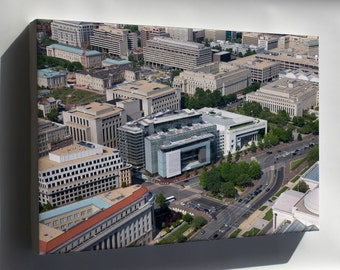 Canvas 24x36; Aerial View Of The Newseum