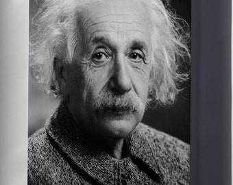 Canvas 24x36; Albert Einstein Head