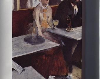 Canvas 16x24; L'Absinthe, 1876, Oil On Canvas, By Edgar Degas