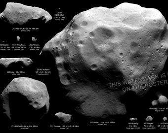16x24 Poster; Largest Asteroids
